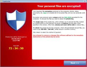 Cryptolocker : Un malware très bloquant perte de données