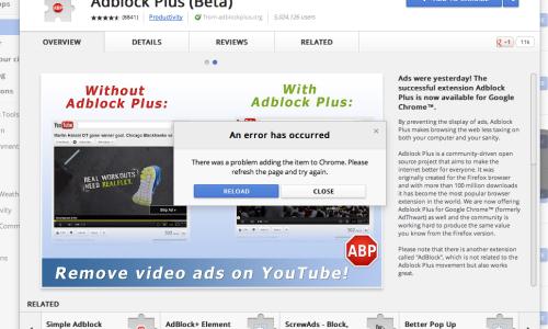 adblock - bloqueur de pages publicitaires