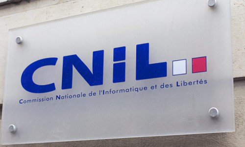 France's computer technology watchdog CNIL (Commisson Nationale de l'Informatique et des Libertes) sign  Paris, FRANCE -23/04/2013/SAVARY_savary.06/Credit:THIBAULT SAVARY/SIPA/1304231557