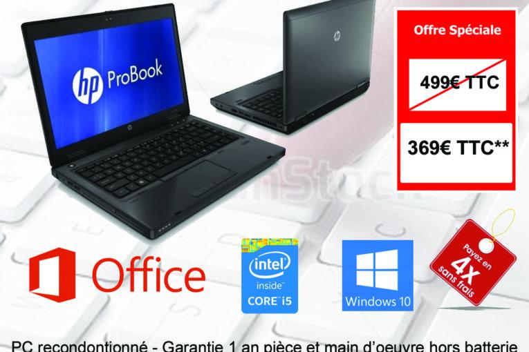 RECTO - PC PORTABLE HP Probook 6470b