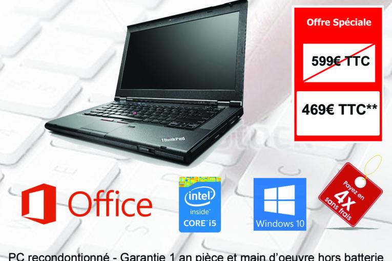RECTO - PC PORTABLE Lenovo Thinkpad T430
