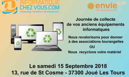 recyclage informatique le 15 Septembre 2018